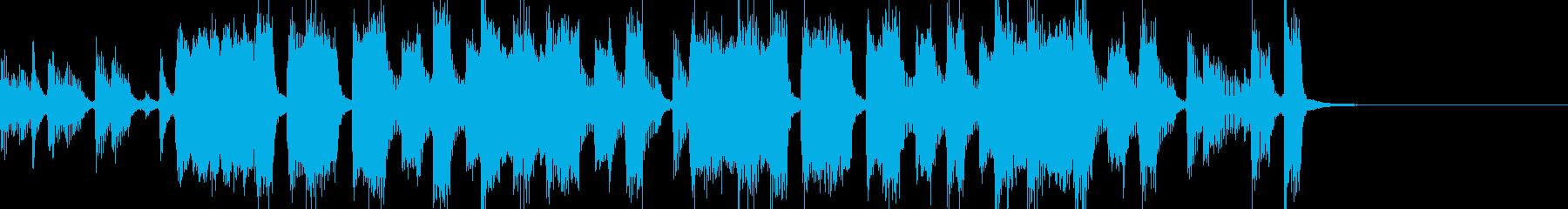 テクノ調のジングルの再生済みの波形