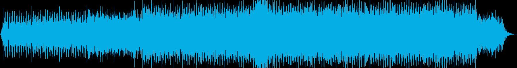 重たい雰囲気のダークなテクノの再生済みの波形
