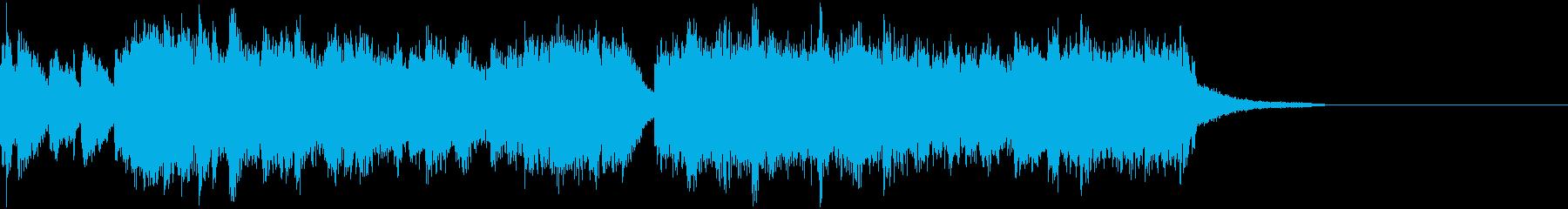 短いワクワクオープニングの再生済みの波形
