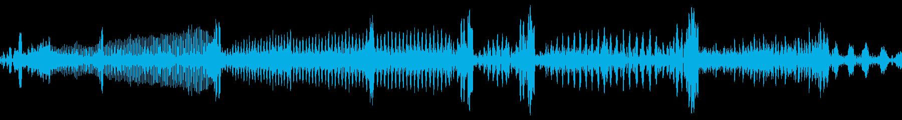 レコードのバックスピン音(DJ)の再生済みの波形