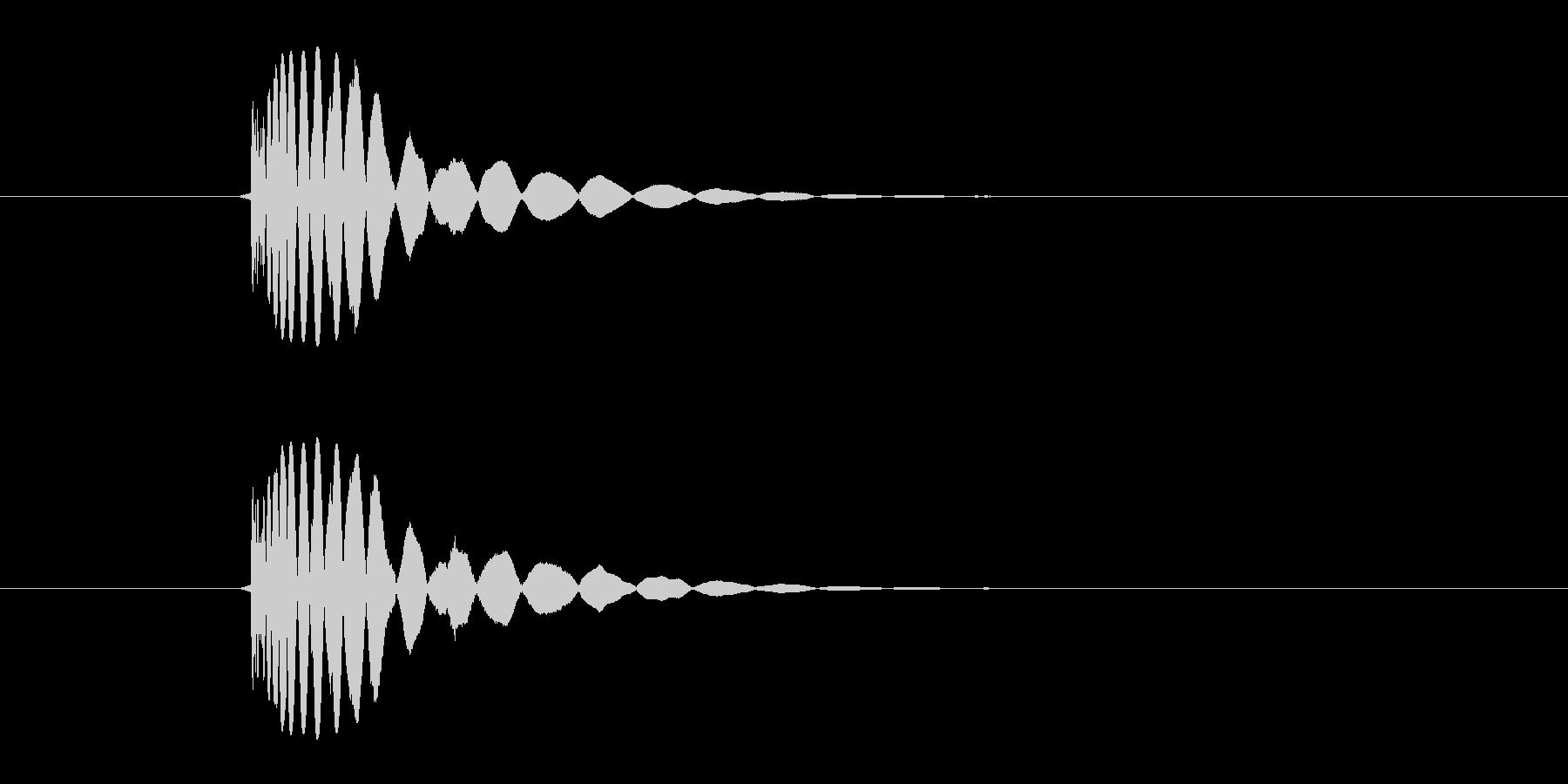 ヒット音(蹴る-2 打撃のインパクト音)の未再生の波形