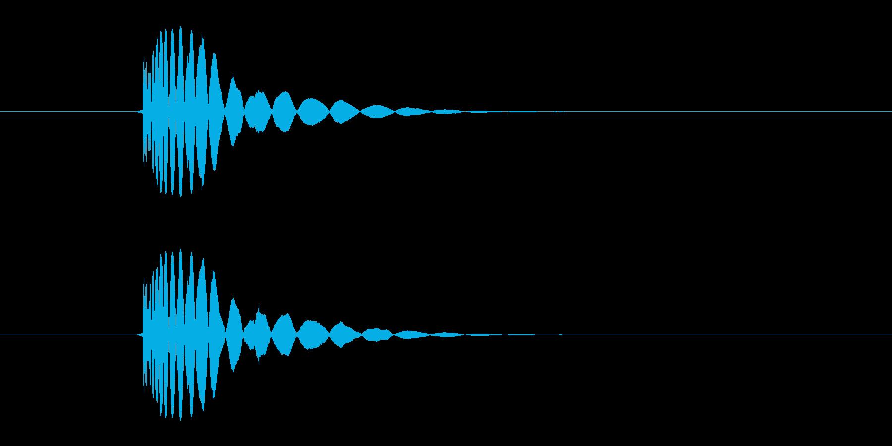 ヒット音(蹴る-2 打撃のインパクト音)の再生済みの波形