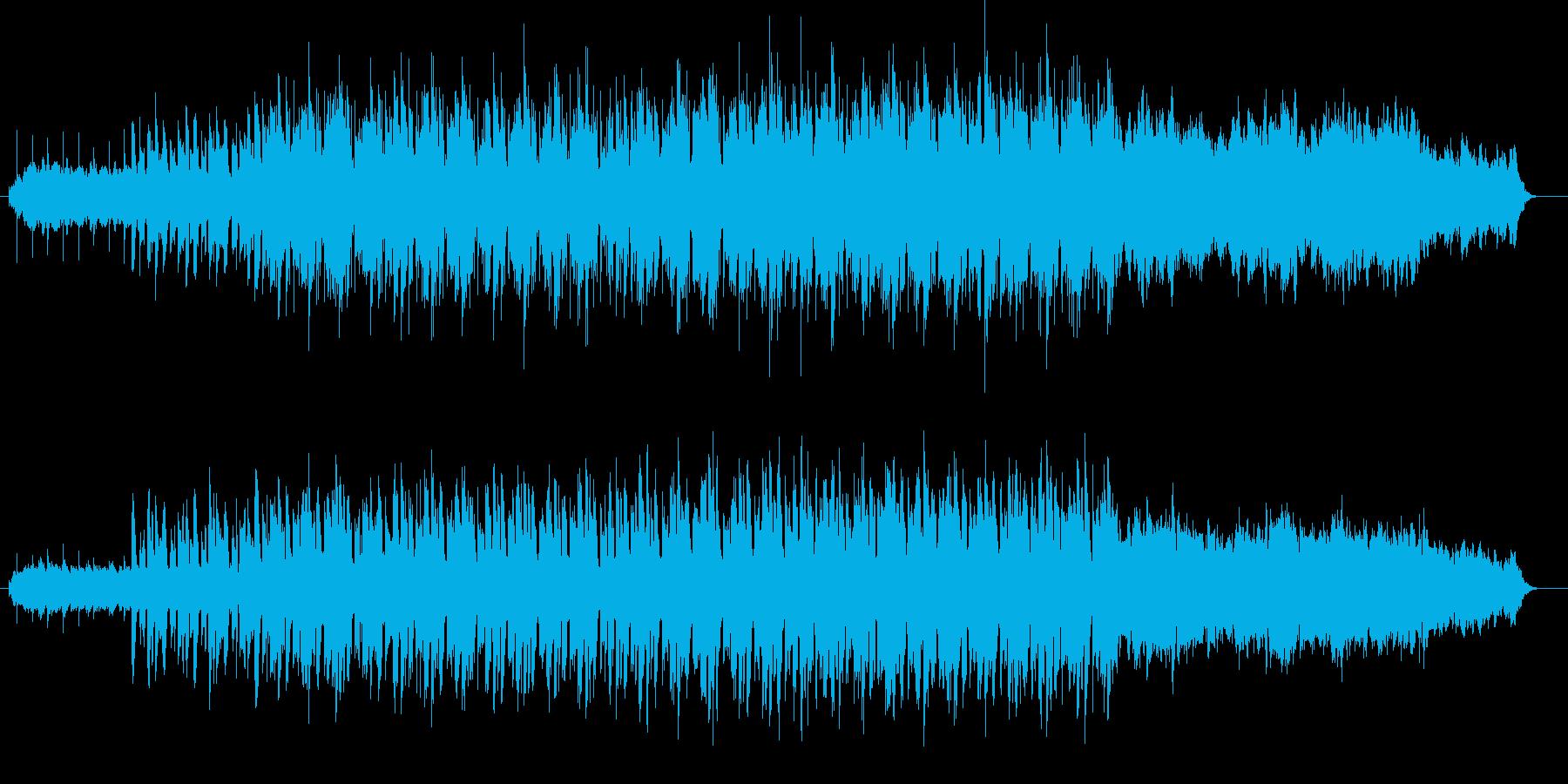 スリルと疾走感のあるリズム曲の再生済みの波形
