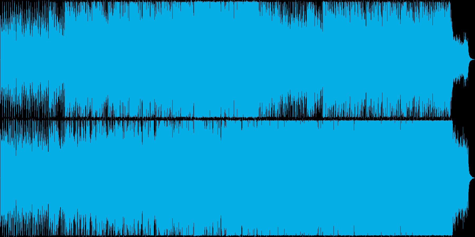 軽快でハッピーなBGMです。の再生済みの波形