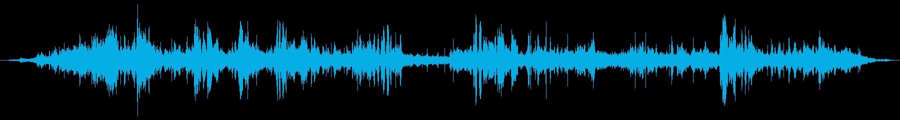 屋内プールの声の再生済みの波形