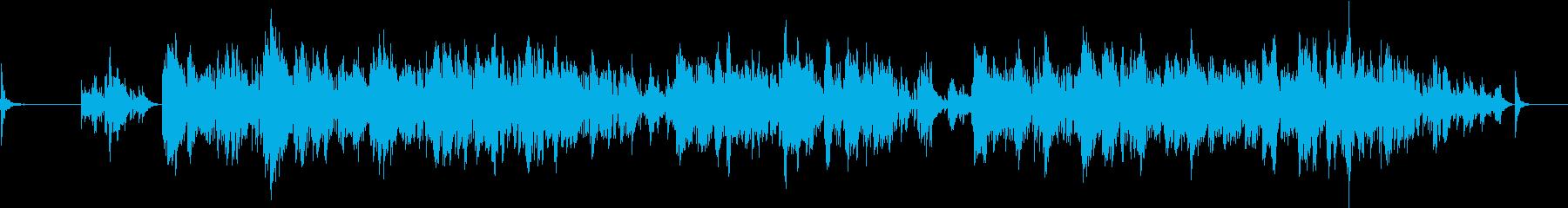 心の過剰反応をピアノ群で表したものの再生済みの波形