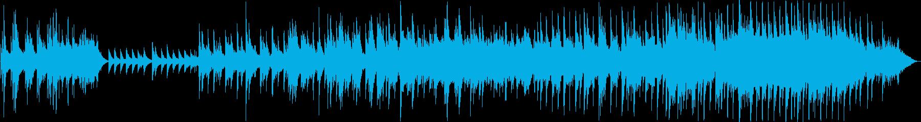 ピアノメインのゆったりとしたバラードの再生済みの波形