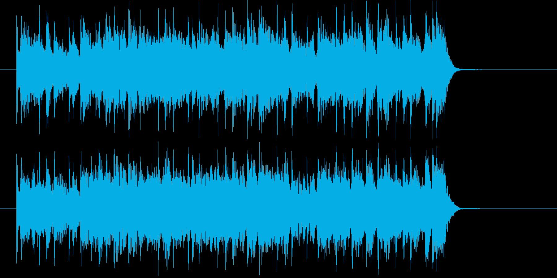 爽快で勢いのあるシンセサイザーサウンドの再生済みの波形