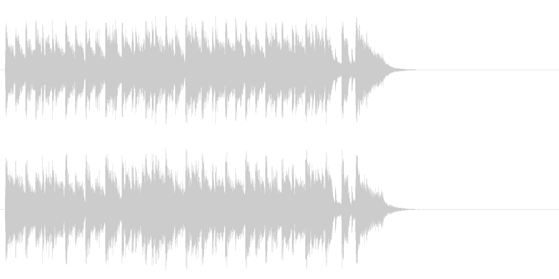 軽やかなフュージョン(サビ)の未再生の波形