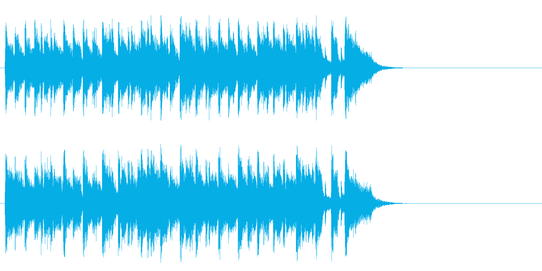 軽やかなフュージョン(サビ)の再生済みの波形