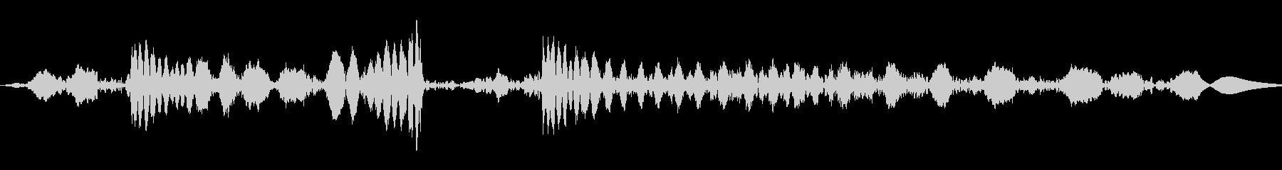 ジュクジュー:レコードのスクラッチ:モノの未再生の波形