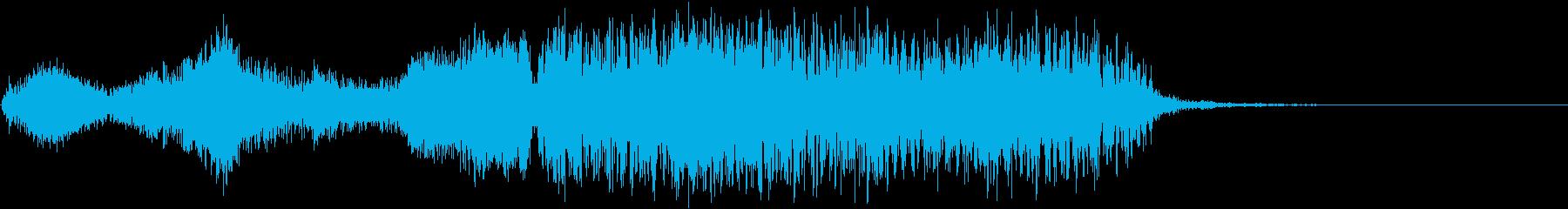 渦巻く渦巻きの衝突の再生済みの波形