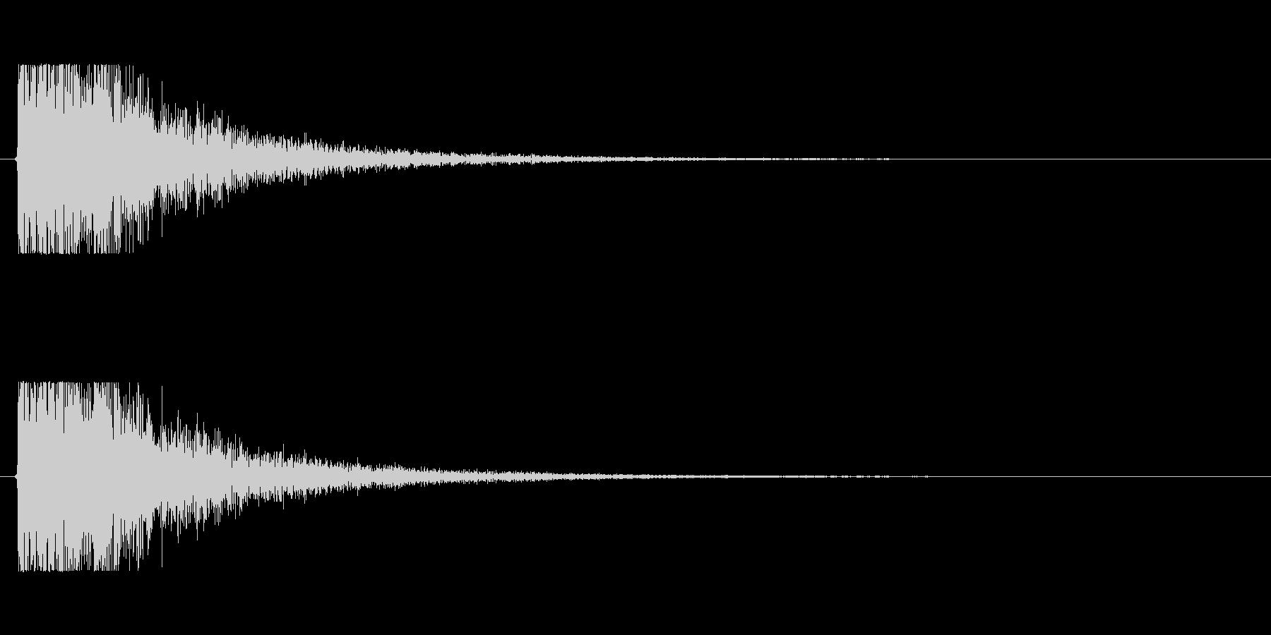 【大砲01-4】の未再生の波形