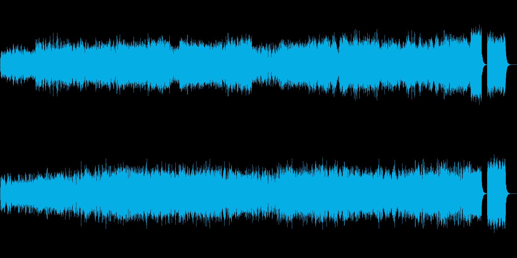 バッハの小フーガト短調を高音質で!の再生済みの波形