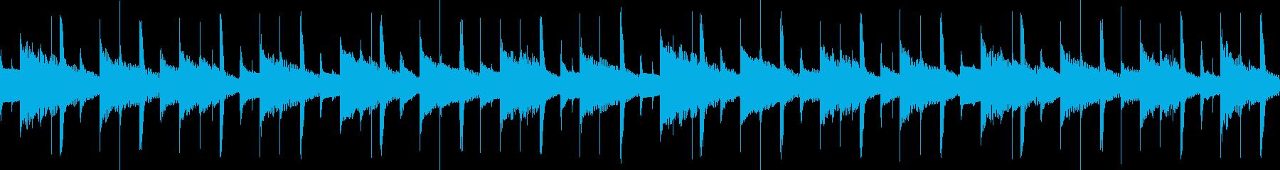 ローファイで優しくゆったりとした曲の再生済みの波形