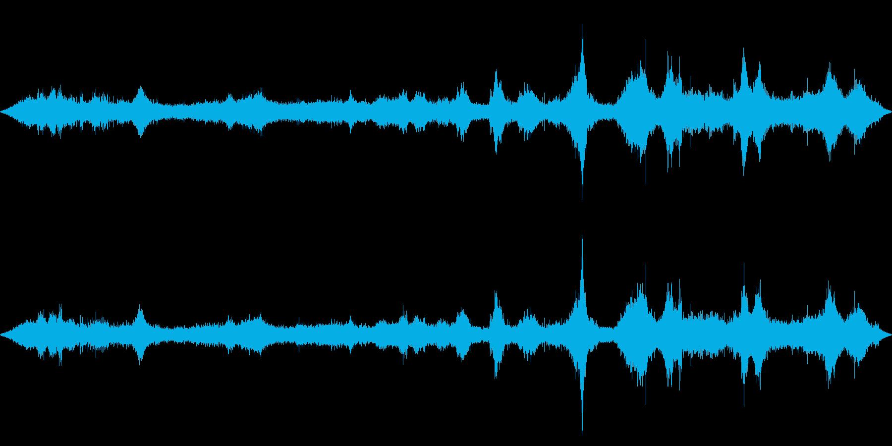 ハワイのビーチの波の音、海の音の再生済みの波形