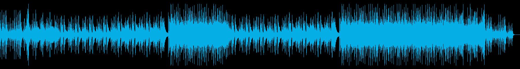 ピアノとエレキギターの冷たい幻想的ロックの再生済みの波形