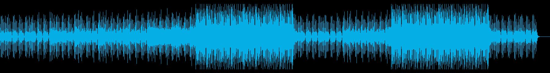 ナレーションに合うクールなハウスの再生済みの波形