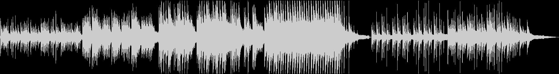 牧歌的なピアノソロの未再生の波形