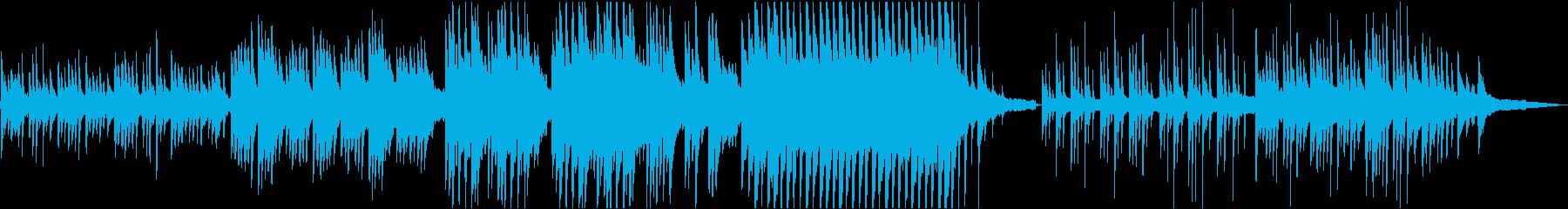 牧歌的なピアノソロの再生済みの波形