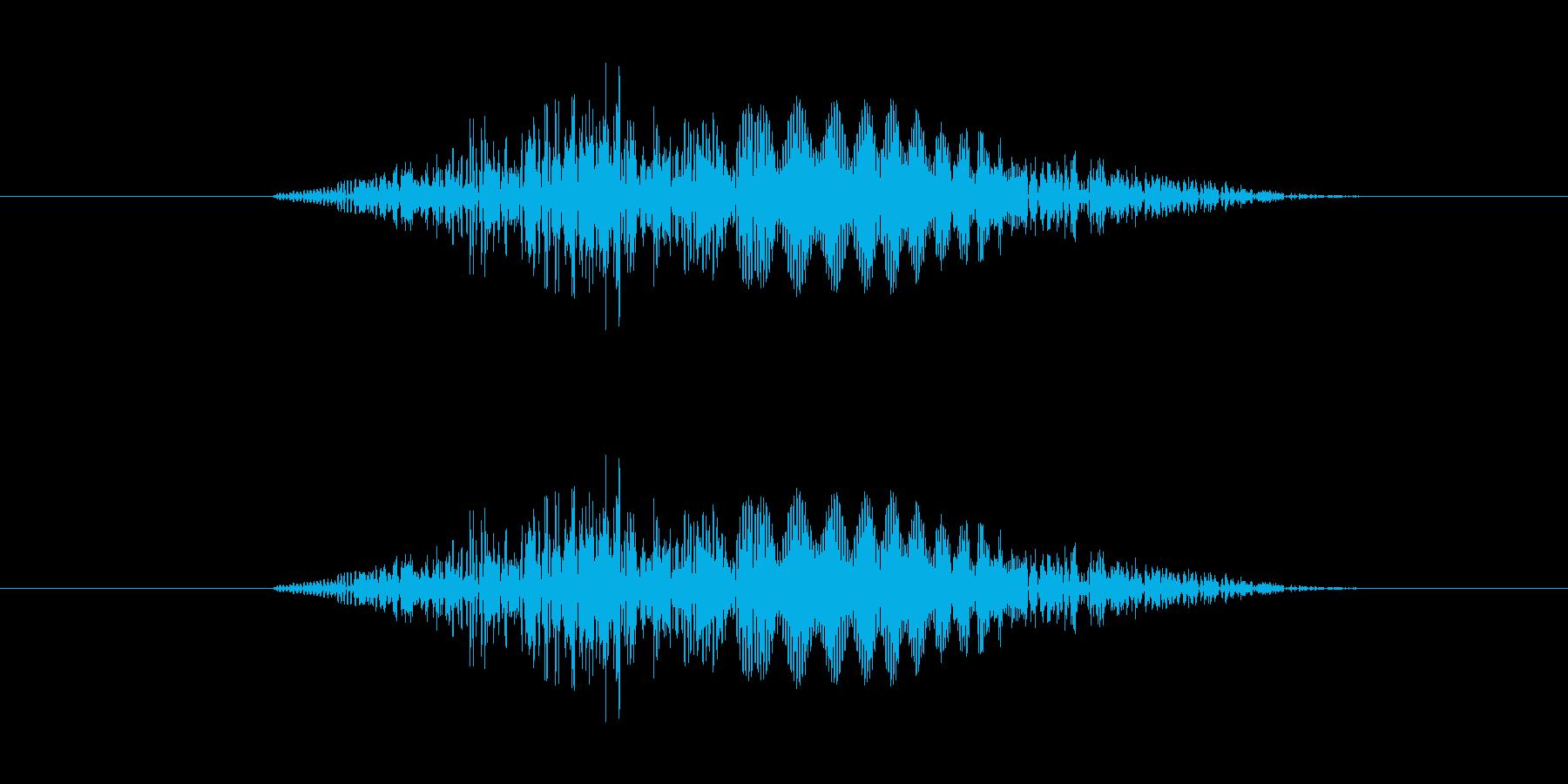 スワイプ音、表示音の再生済みの波形