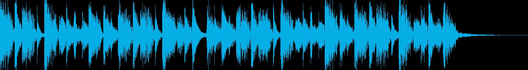 アンビエント90年代のテクノ風のグ...の再生済みの波形