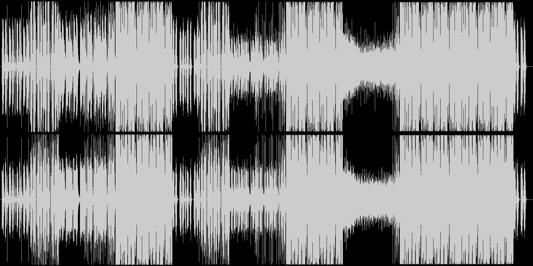 ほのぼのした雰囲気のトロピカルハウスの未再生の波形