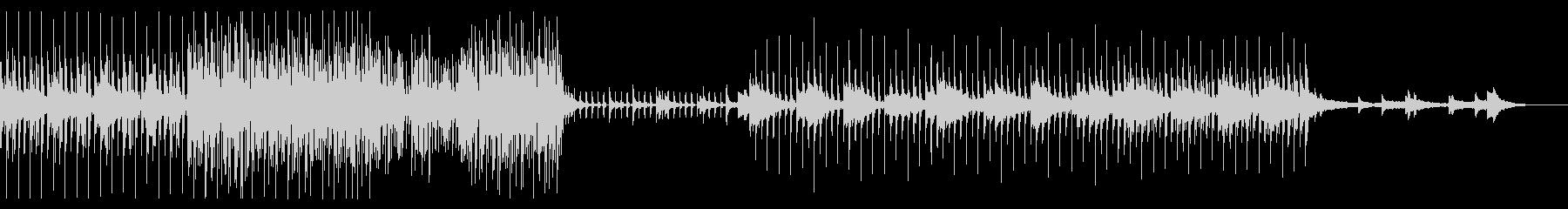 幻想的で洗練された、壮大な曲の未再生の波形
