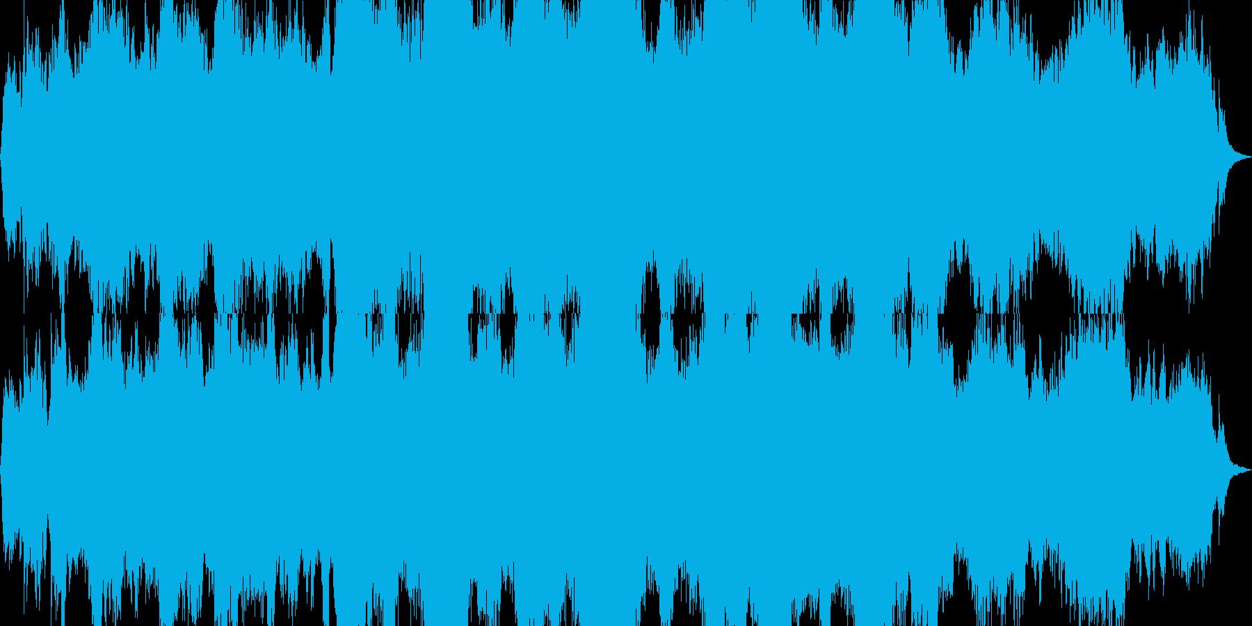 ダークで、重苦しいドローン曲の再生済みの波形