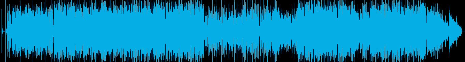 爽快なイメージのアコギ曲(ドラムレス)の再生済みの波形