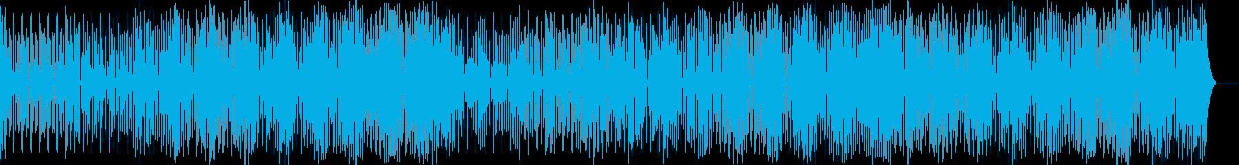 浮遊し増殖しつつ段階的に下降してゆく音階の再生済みの波形