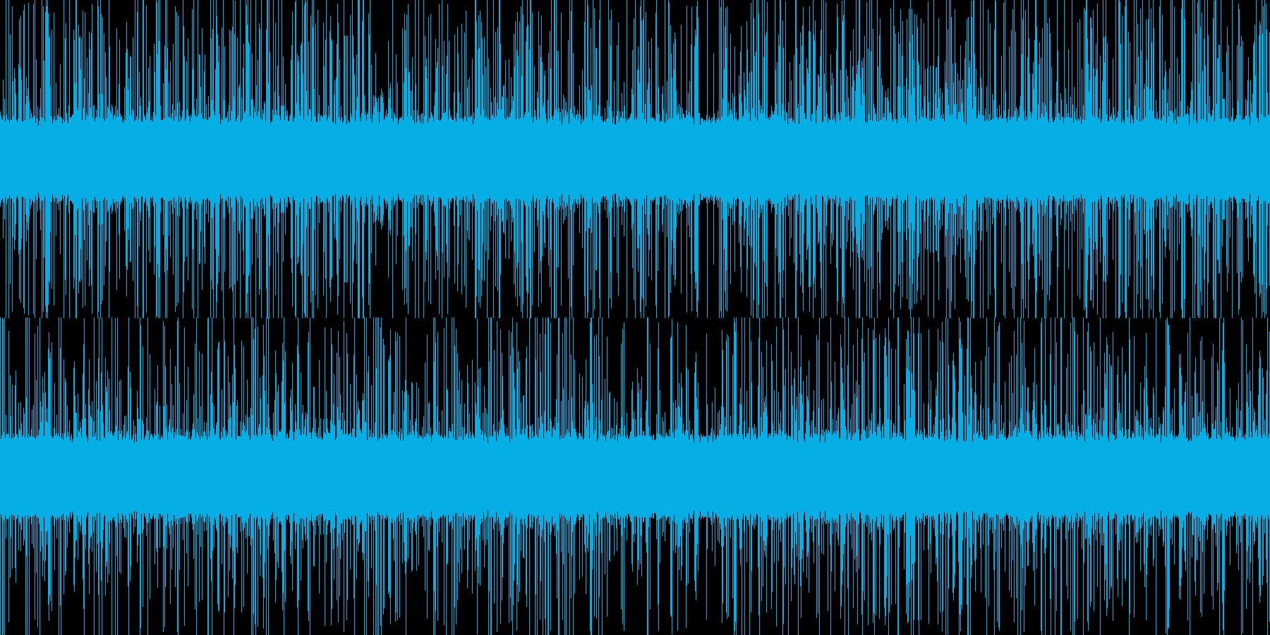 ループ再生可能!激しい雨音・ザーの再生済みの波形