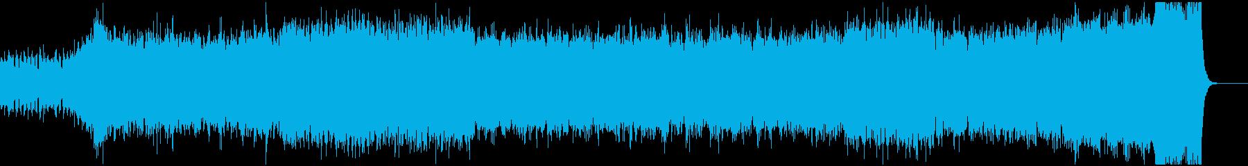 オーケストラによる重厚なBGMの再生済みの波形