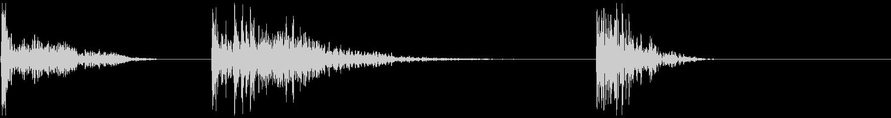 ディープドラム、3種類の未再生の波形