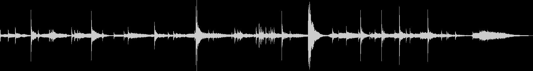 ピアノが印象的な怖いBGMの未再生の波形