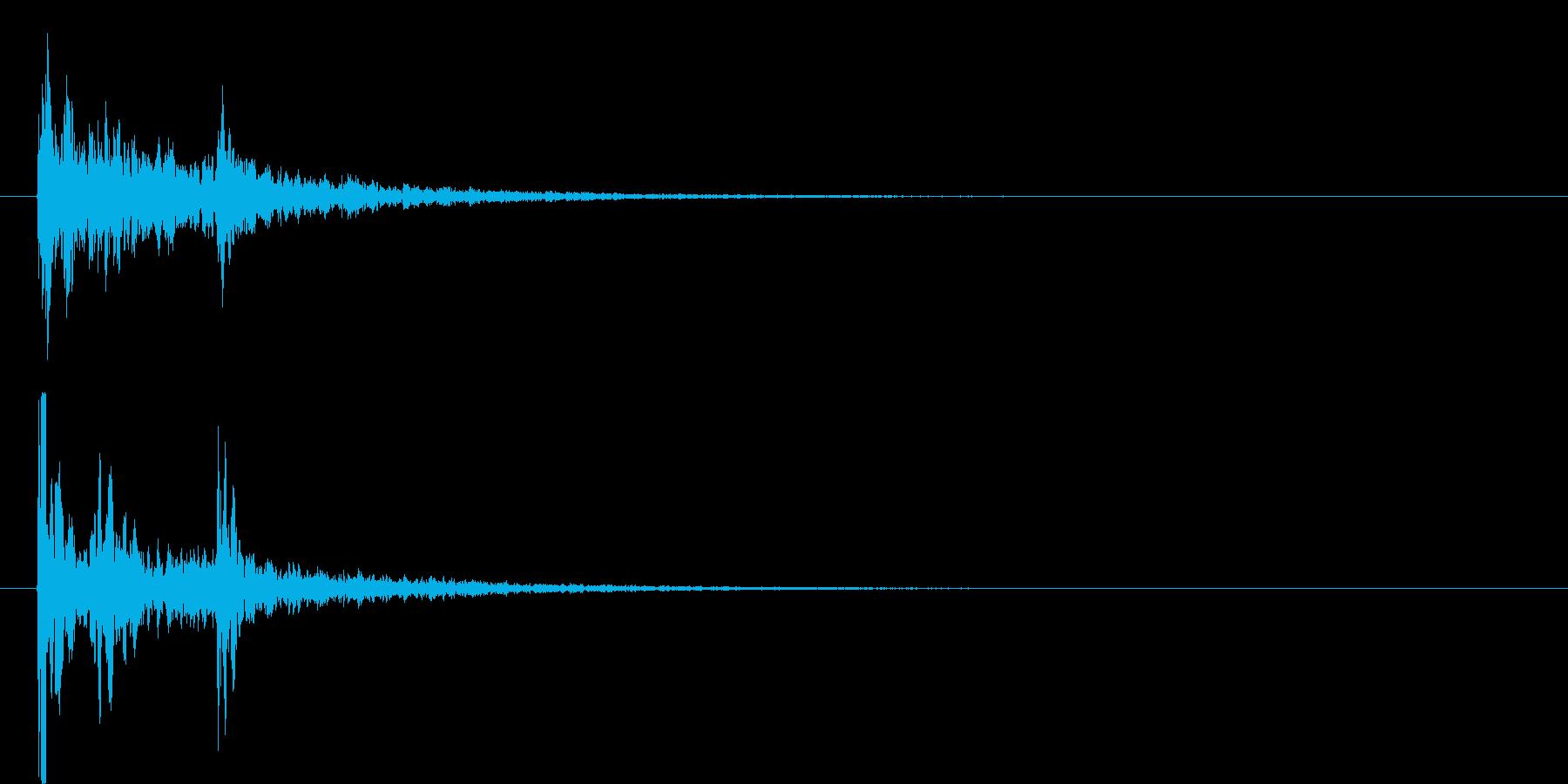 水を想起させる音で作られた短いテーマの再生済みの波形