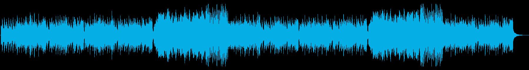 朝の街並みの様なポップスの再生済みの波形