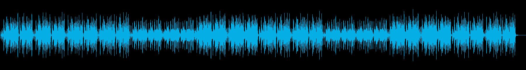 ほのぼのするアコースティックの再生済みの波形