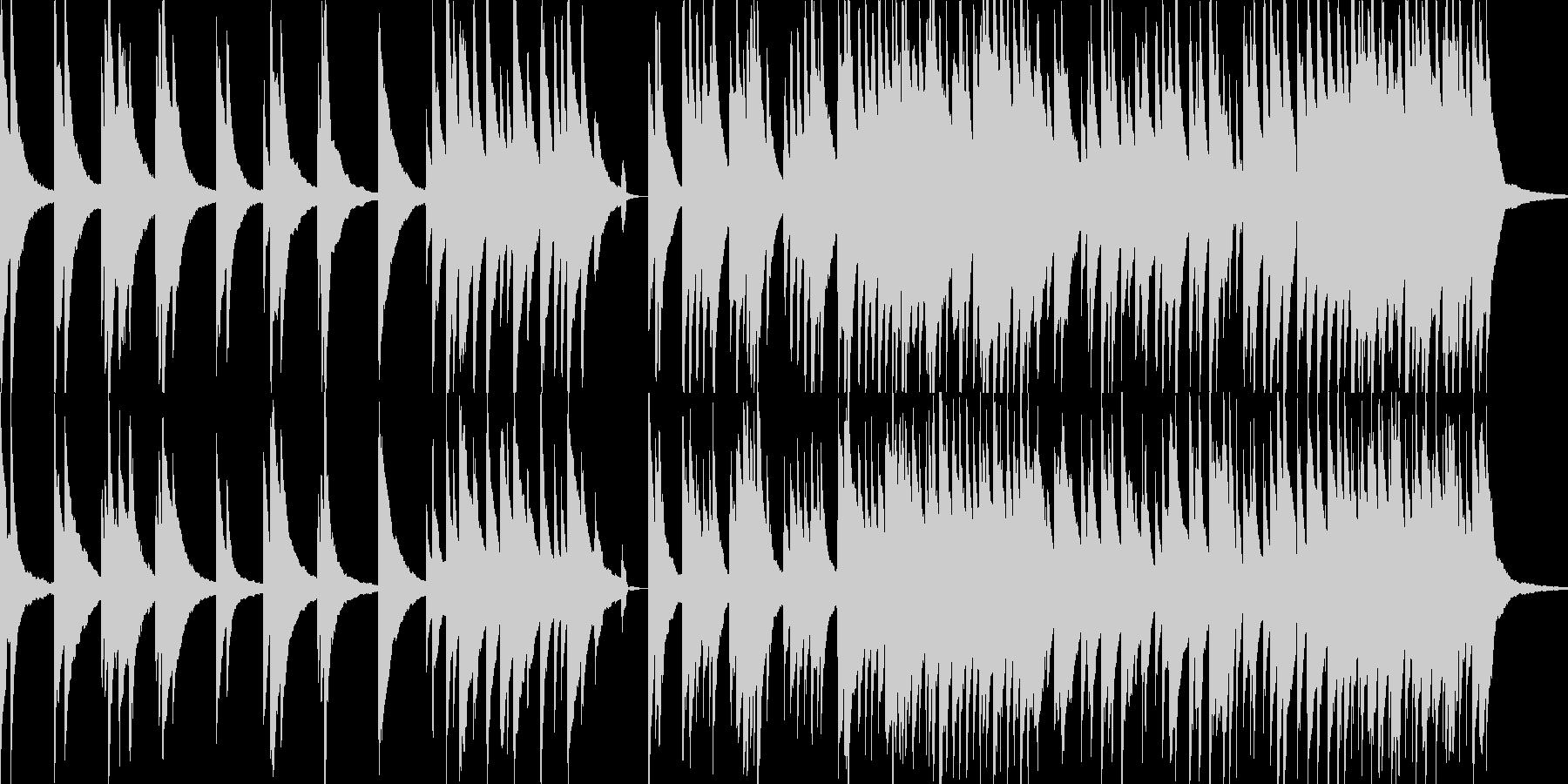 悲哀感のあるピアノソロの未再生の波形
