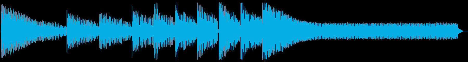 レトロゲームジングル:サスペンスの再生済みの波形