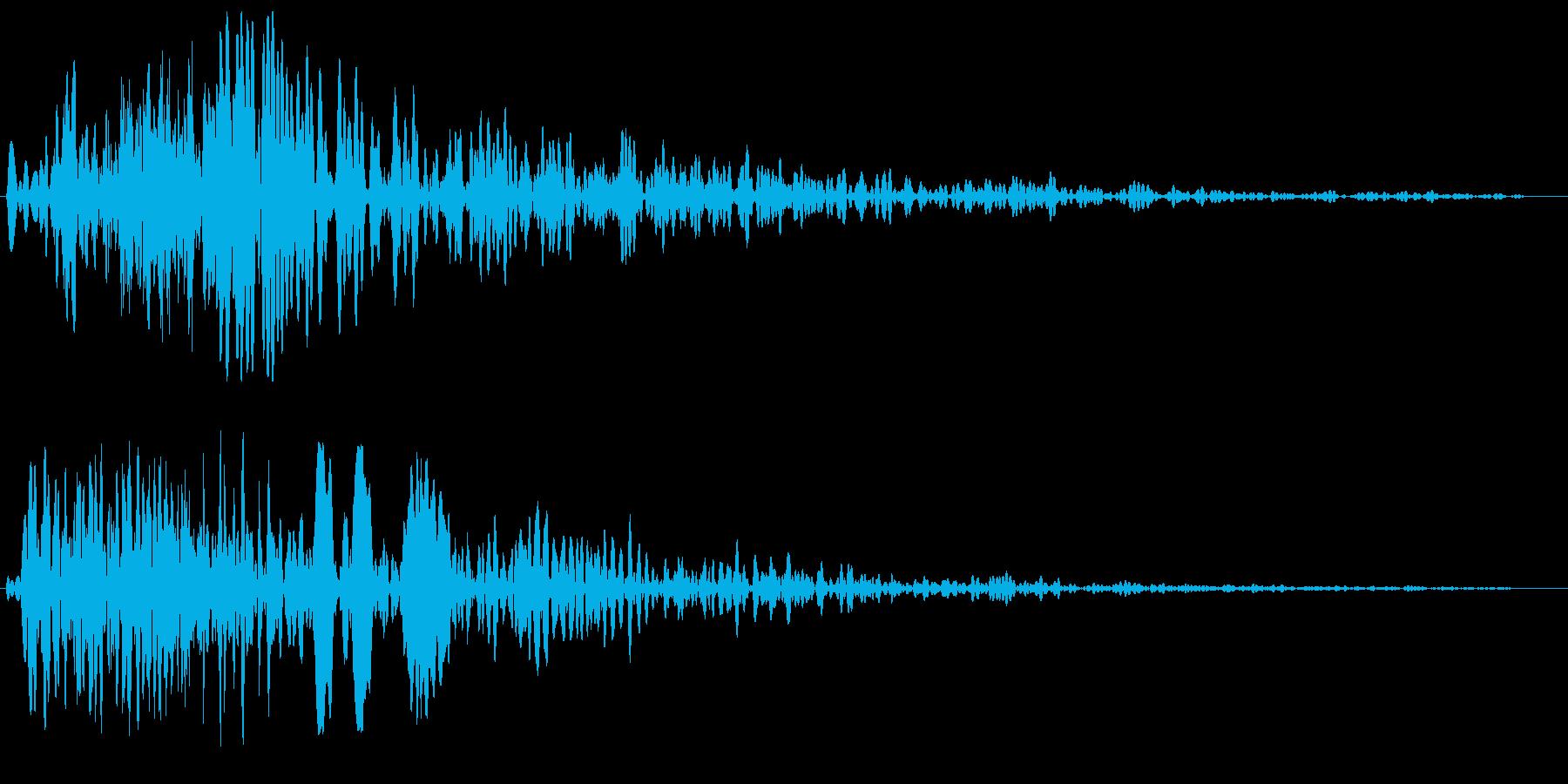 硬いものを切り裂くようなスピード音の再生済みの波形