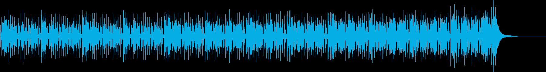 スパイ映画のオープニング曲の再生済みの波形