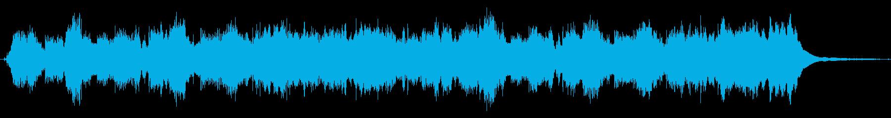 アコーディオンの可愛い20秒のジングルの再生済みの波形