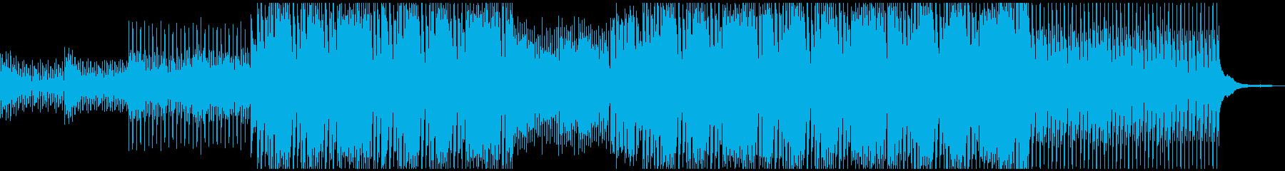 シンセサイザー波でファッションな曲の再生済みの波形