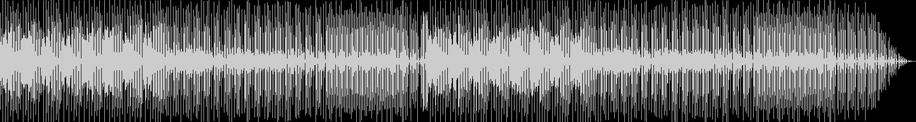 レトロフューチャーな雰囲気のテクノポップの未再生の波形