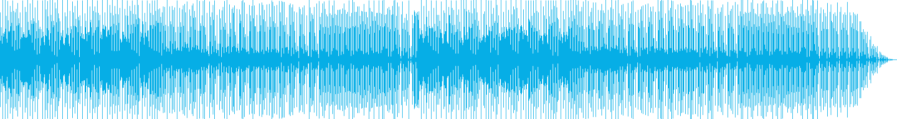 レトロフューチャーな雰囲気のテクノポップの再生済みの波形