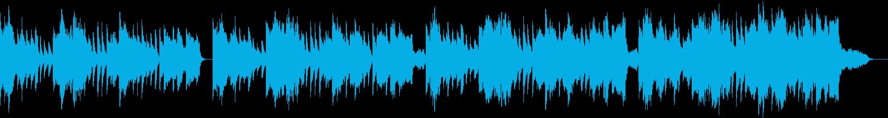 リコーダーがメインの物悲しいBGMの再生済みの波形