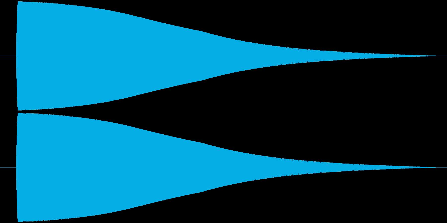 ピューーーンの再生済みの波形