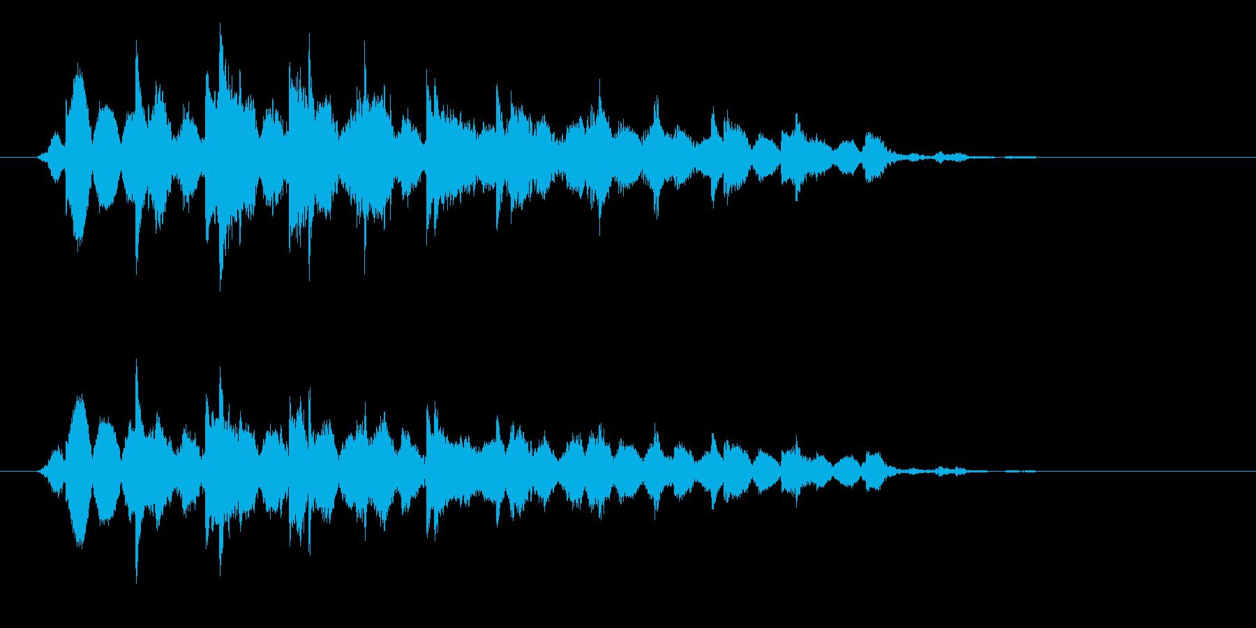 コイン/お金/ジャラジャラの再生済みの波形