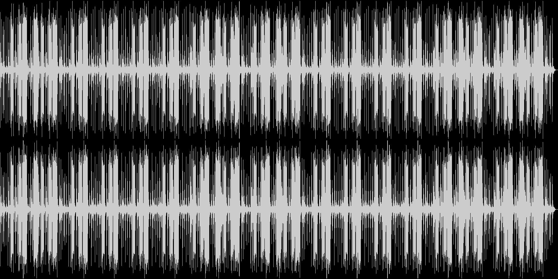 のんびりとしたレゲエの未再生の波形